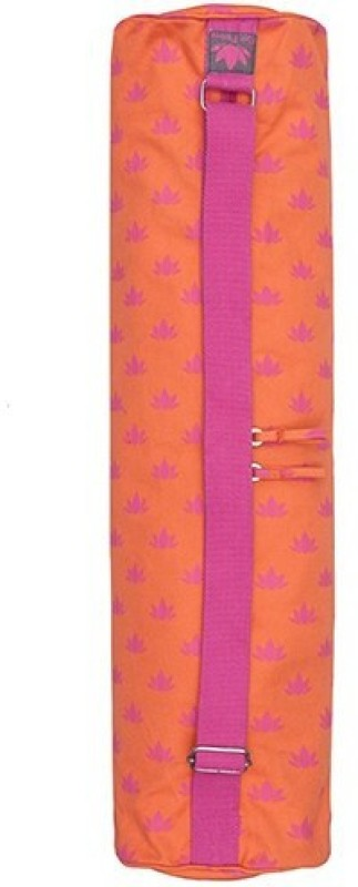 Kanyoga Om Padma Pink Lotus Printed Yoga Mat Bag (70 x 28 x 15 x 15 CM) (LxWxHxD cm) Yoga Blocks(Multicolor Pack of 1)