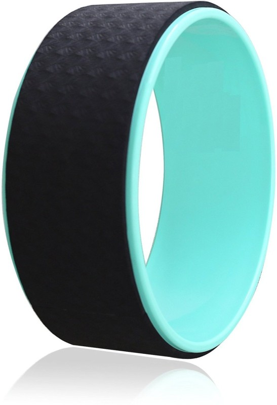 Kobo Wheel - Best Comfortable Stretching Prop For Backbends And Flexibility - Back, Hip, Chest And Shoulder Pain Relief - Strong, Sweat-Resistant 6mm Thick Foam Yoga Blocks(Black Pack of 1)