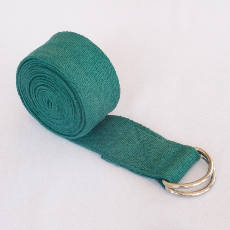 Health And Yoga HNY1104168 Cotton Yoga Strap(Green)
