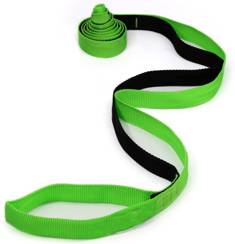 Sahni Sports Stretch Out Polyester, Nylon Yoga Strap(Black, Green)