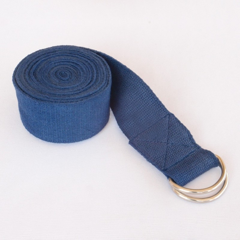 Health And Yoga HNY1104165 Cotton Yoga Strap(Blue)