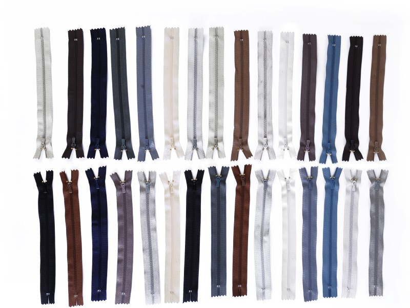 Vardhman Tailoring Zips 8inches (22 Cm) Length , Set of 30 gents shades Zips Used In Pants , Children Frocks , Plazos , Dresses, Ladies Suits Etc Multicolor Synthetic Open-ended Zipper