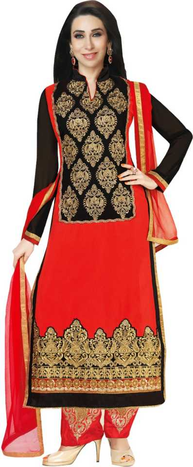 5cc9f62ac Style Mania Georgette Embroidered Semi-stitched Salwar Suit Dupatta Material  Price in India - Buy Style Mania Georgette Embroidered Semi-stitched Salwar  ...