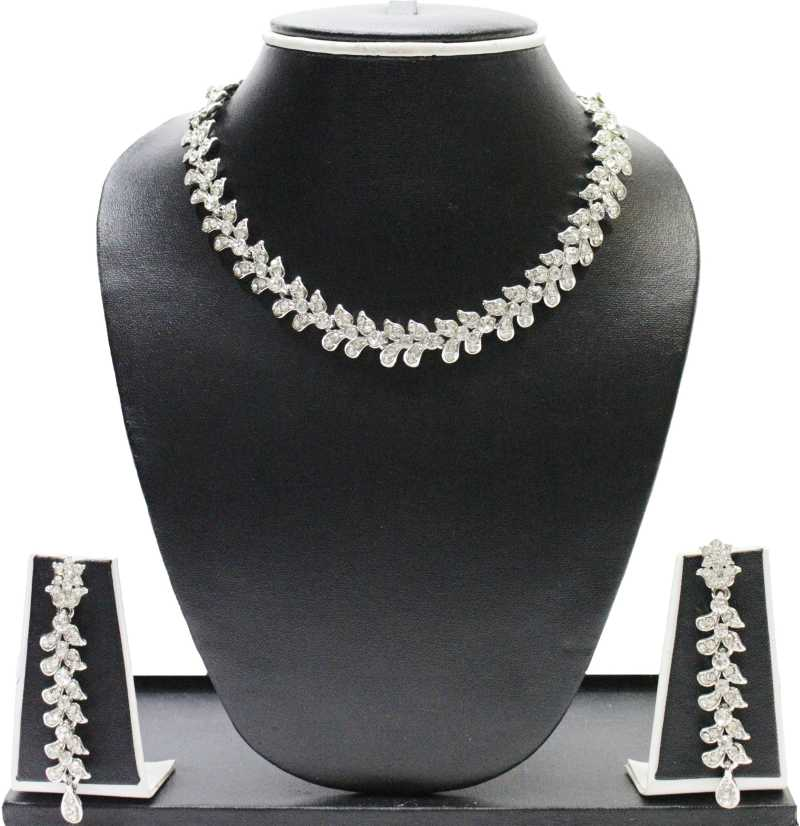 Get upto 80% off on flipkart artificial fashion jewellery white alloy jewel set