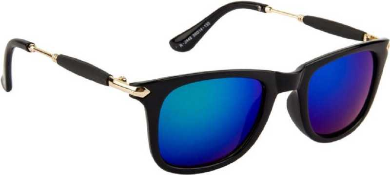 Deixels UV Protection Wayfarer Sunglasses (Free Size)  (Blue)