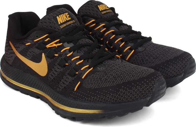 592b2875aed7c Nike AIR ZOOM VOMERO 12 Running Shoes For Men - Buy BLACK GOLD Color ...