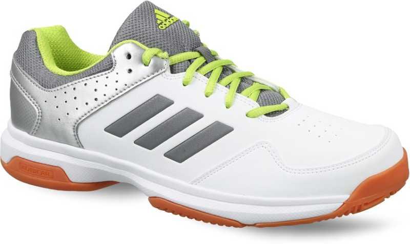 ADIDAS Men White & Grey Quick Force IND Badminton Shoes