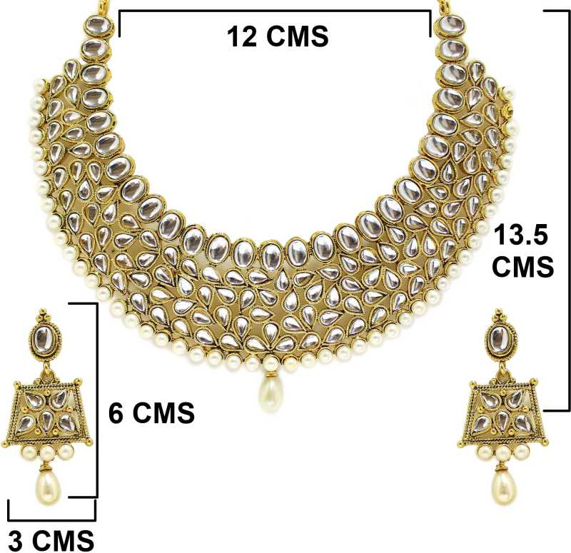 Get upto 60% off on Deepika Padukon exude royal charm with kundan set, long chain necklace set