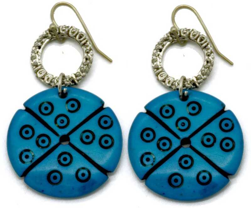 Flipkart Com Buy Masterpiececrafts Bone Carving Turquoise Round Earrings Brass Bone Drops Danglers Online At Best Prices In India