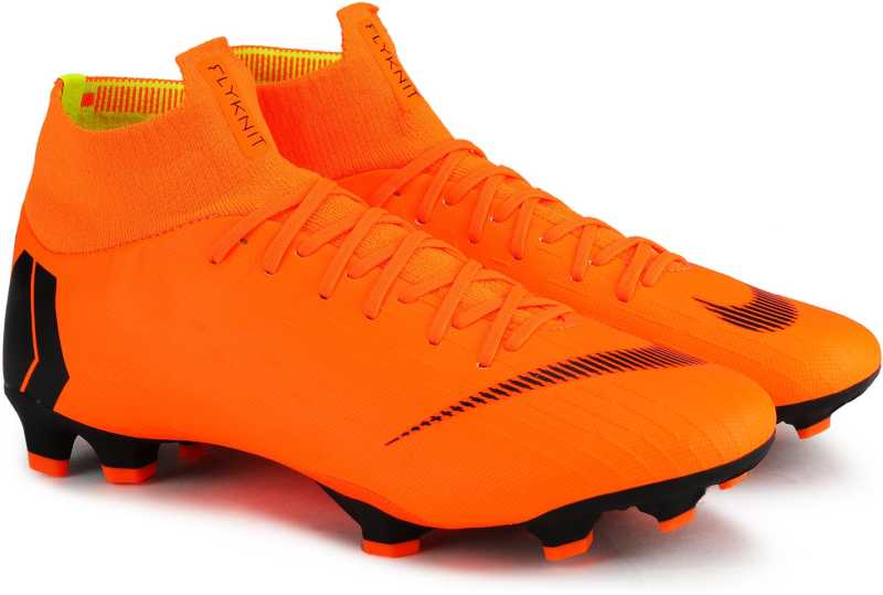 Nike SUPERFLY 6 PRO FG Football Shoes For Men  (Orange)