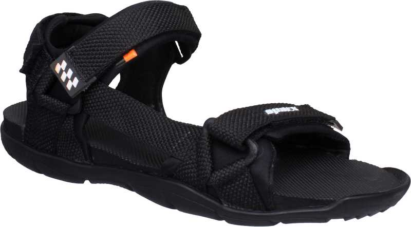 Men Black, White Sandal thumbnail