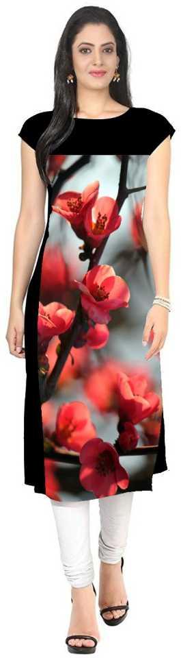 Get 57% Off on Ethnic Wear Kurtis PAVITRA Women Floral Print Straight Kurta Multicolor