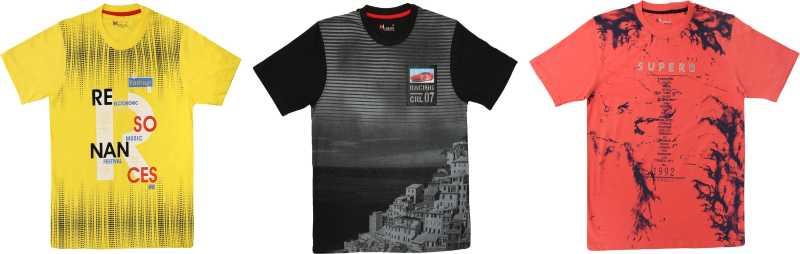 Boys Graphic Print Cotton Blend T Shirt