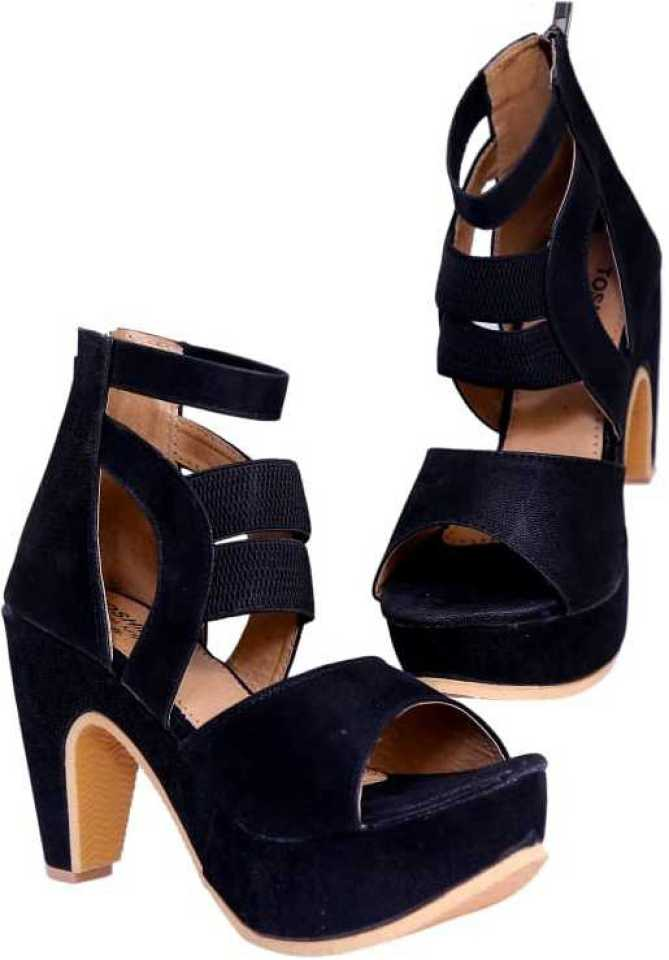 TOSHINA SHOES KING  Women Black Heels at Flipkart ₹499