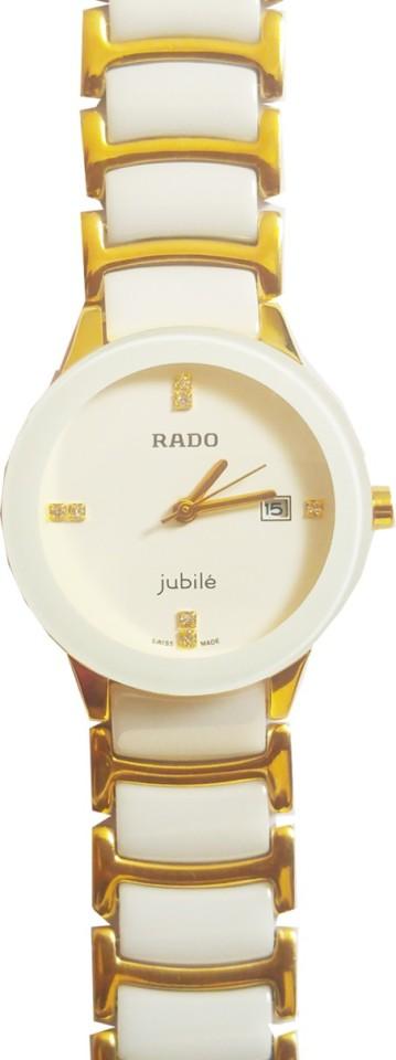 rado jubile gold white ceramic white