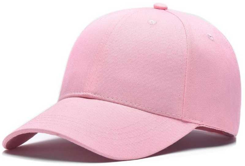 a6381abb91d ZACHARIAS Solid Cotton Baseball Pink Cap Cap - Buy ZACHARIAS Solid Cotton  Baseball Pink Cap Cap Online at Best Prices in India