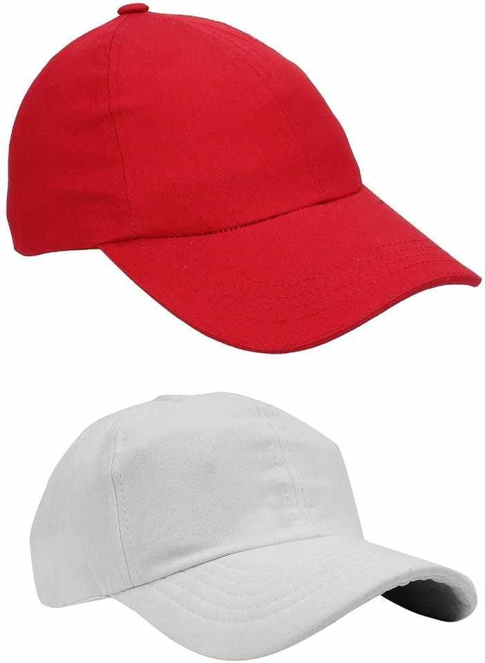 3d913592d36 ZACHARIAS Solid Baseball Cotton Solid Cap Combo Cap (Pack of 2). Special  price