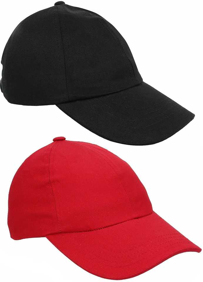 24203e37 ZACHARIAS Solid Baseball Cotton Solid Cap Combo Cap (Pack of 2). Special  price