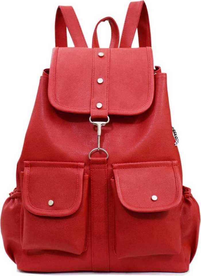 TWO POCKET 15.0 L Backpack  (Red) at Flipkart ₹225