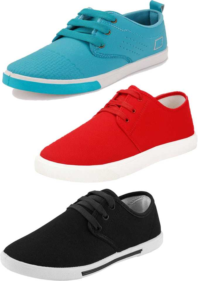 World Wear Footwear Combo-(3)-1024-1077-349 Canvas Shoes For