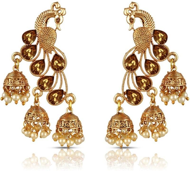 JDJ IMITATION JEWELLERIES Girls Jewelleries Lovely Moti Earigs
