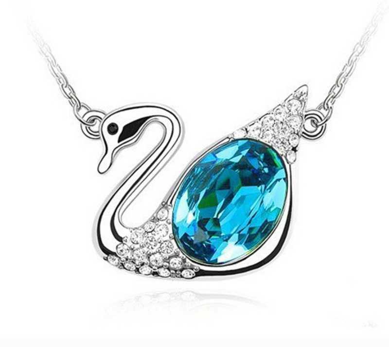 9ff8c3f52c Tinera Trends Korean crystal swan jewelry Rhodium Swarovski Crystal ...