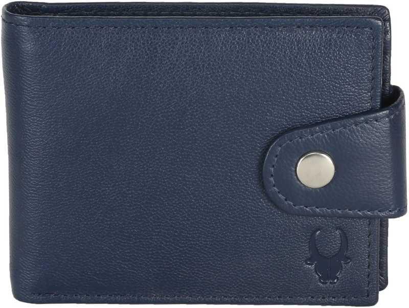 WildHornMen Blue Genuine Leather Wallet 5 Card Slots  WildHorn Wallets