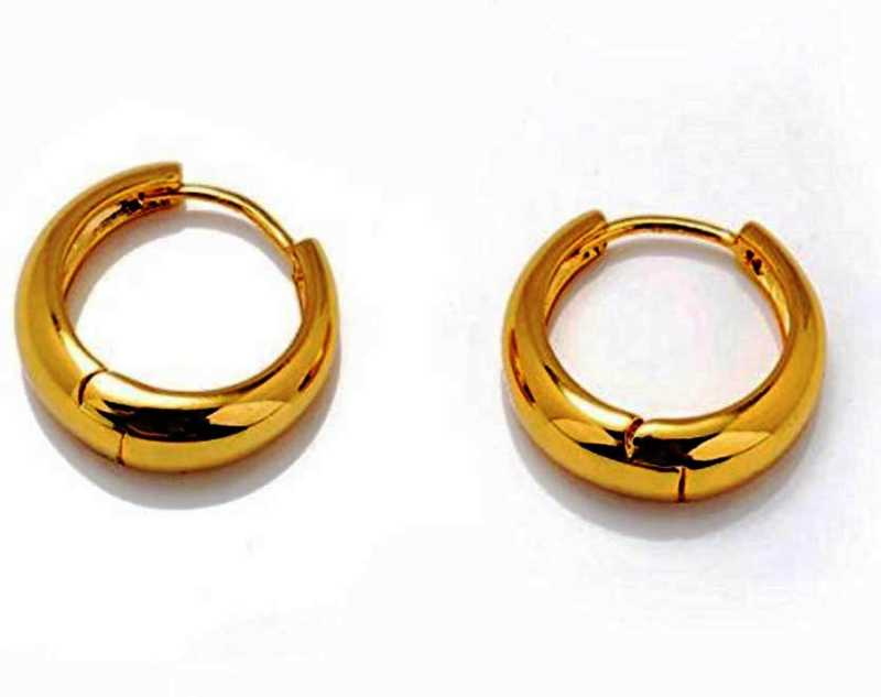 9a9d7335f234f Meenaz Jewellery Gold Mens Bali Ear rings / Earrings Combo For Men / Gents  / Boys / Boyfriend ( 2 pcs) - BALI-ME151 Stainless Steel Hoop Earring