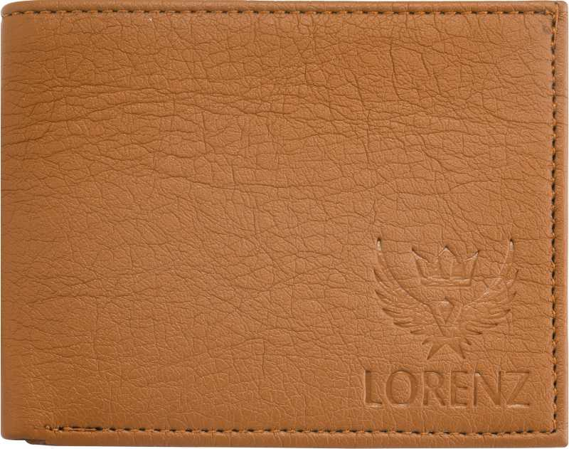 LORENZ Men Tan Artificial Leather Wallet(6 Card Sl