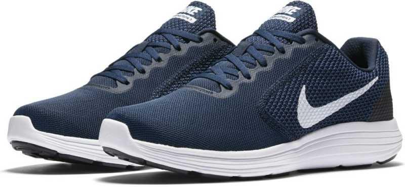 Nike REVOLUTION 3 Running Shoes For Men  (Blue)