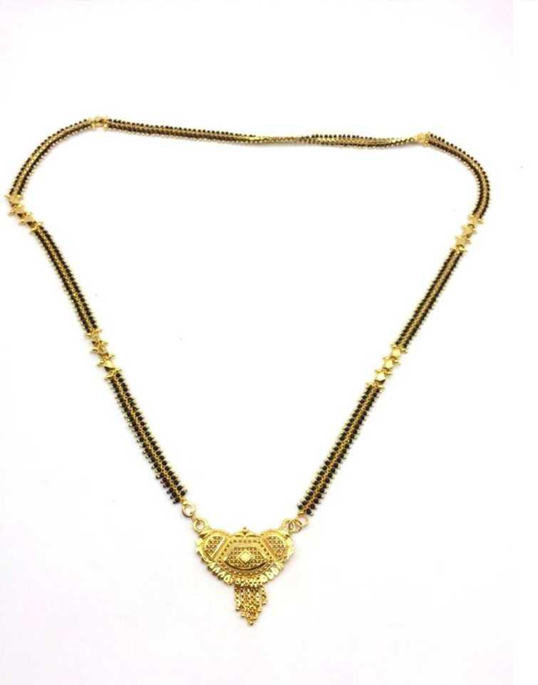 c64414dee808d Digital Dress Room Women's Pride Gold Plated Mangalsutra Necklace 30 ...