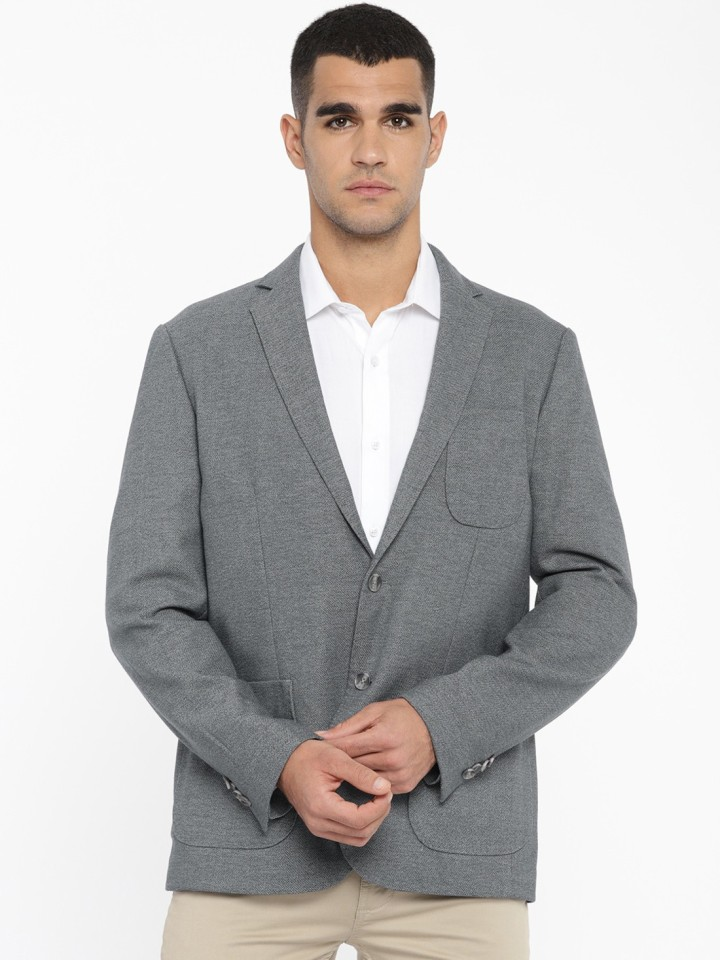 U.S. Polo Assn. Solid Single Breasted Casual Men Blazer