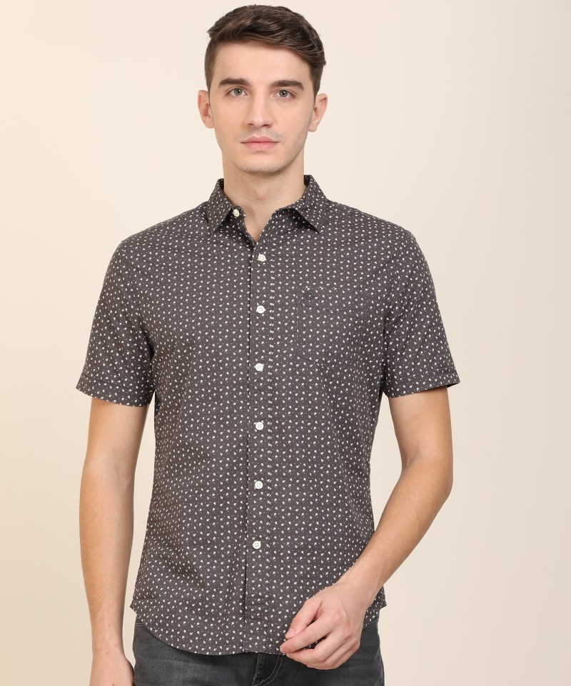 Denizen From Levi's Printed Spread Collar Casual Shirt
