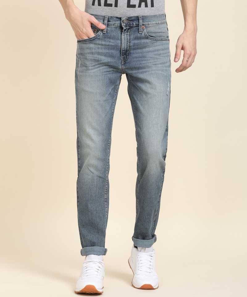 Denizen From Levi's Skinny Men Blue Jeans