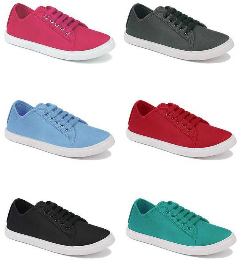 Combo Pack of 6 Casual Shoes Sneakers For Women  (Multicolor) thumbnail