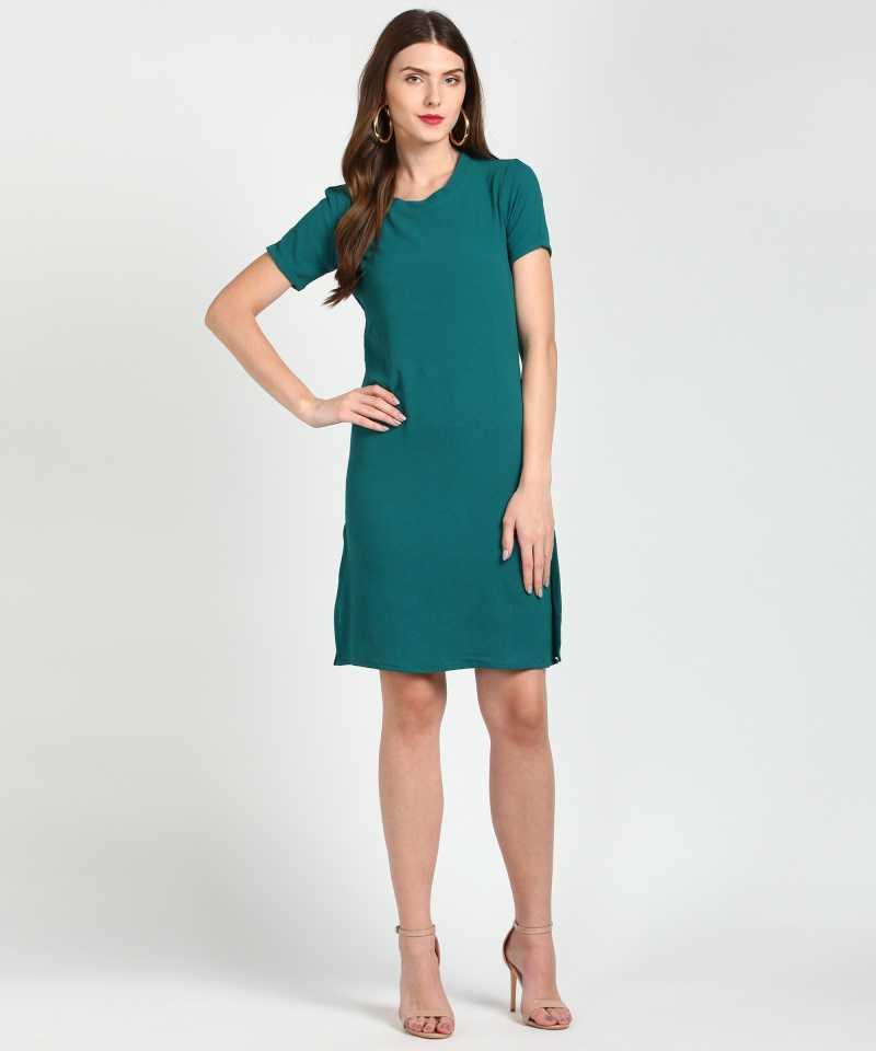 PROVOGUE  Women A-line Green Dress