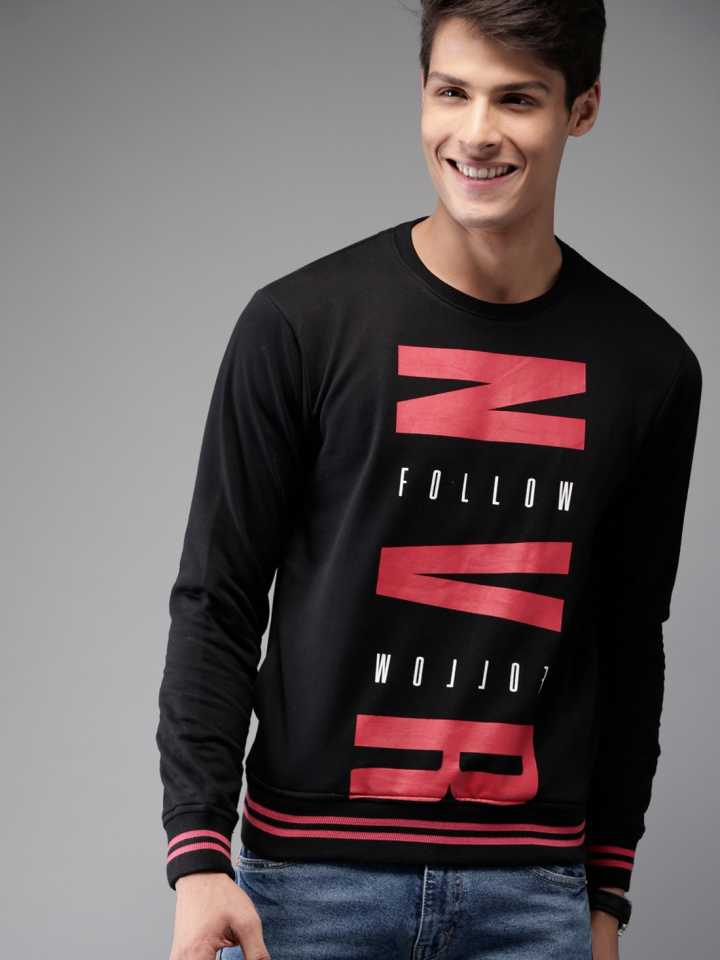 HERE NOW Full Sleeve Printed Men Sweatshirt