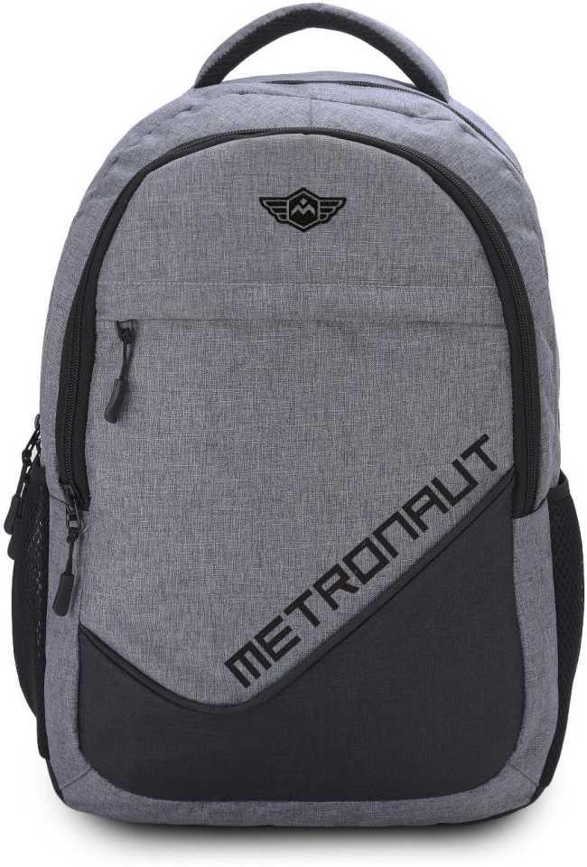 METRONAUTMedium 30 L Laptop Backpack Khadi Textured Hi storage(Grey)