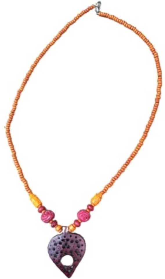 Alphabey Dyed Bone Melted Carving Necklace For Women Brass Plated Wood Necklace Price In India Buy Alphabey Dyed Bone Melted Carving Necklace For Women Brass Plated Wood Necklace Online At Best