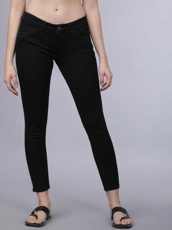 Tokyo Talkies  Super Skinny Women Black Jeans