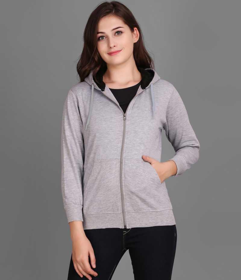 Christy World Full Sleeve Solid Women Sports Jacket