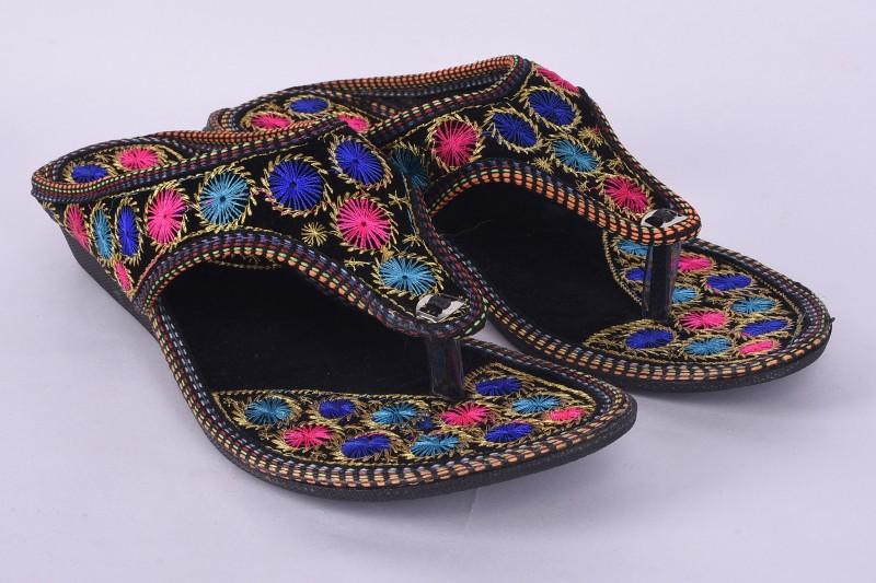 CraftNCreation  Women Multicolor Wedges Sandal