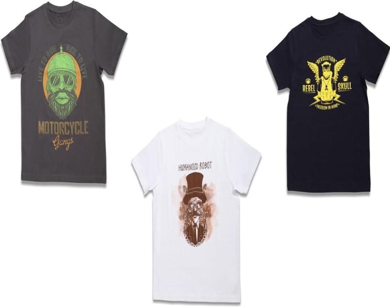 CHILDRENS T-Shirt front and back printed skeleton biker KIDS