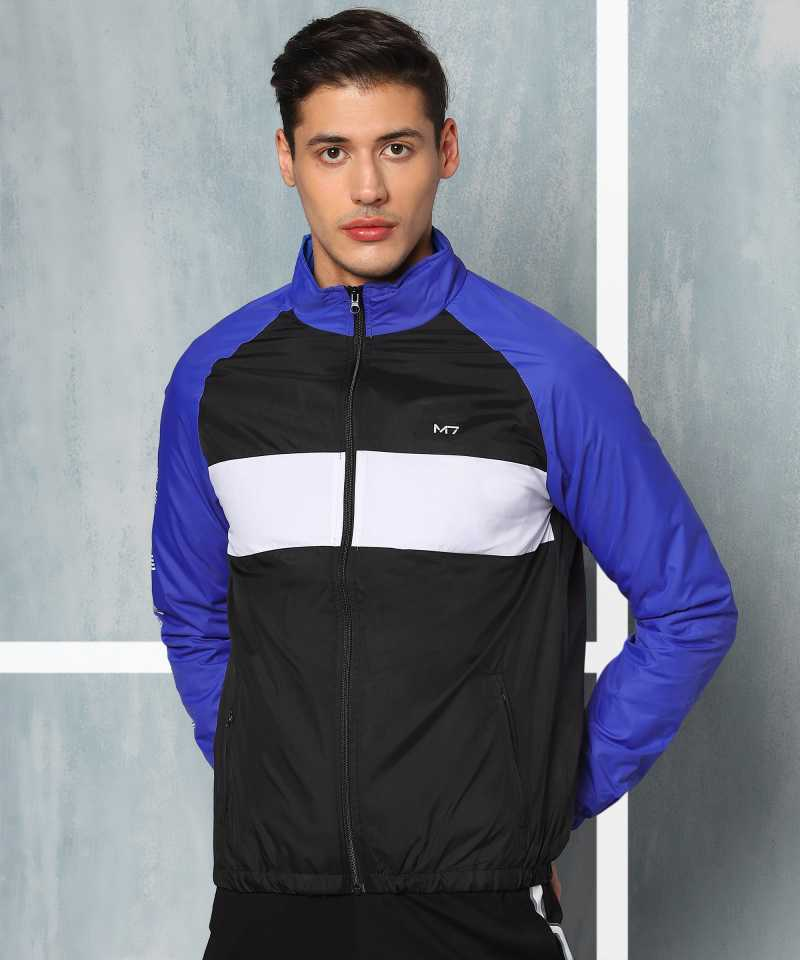 M7 By MetronautFull Sleeve Colorblock Men Sports Jacket