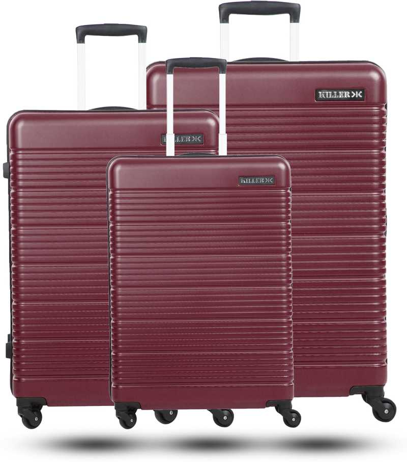 KILLERHard Body Set of 3 Luggage – STREAK- Combo Set (30″+26″+22″) – Maroon