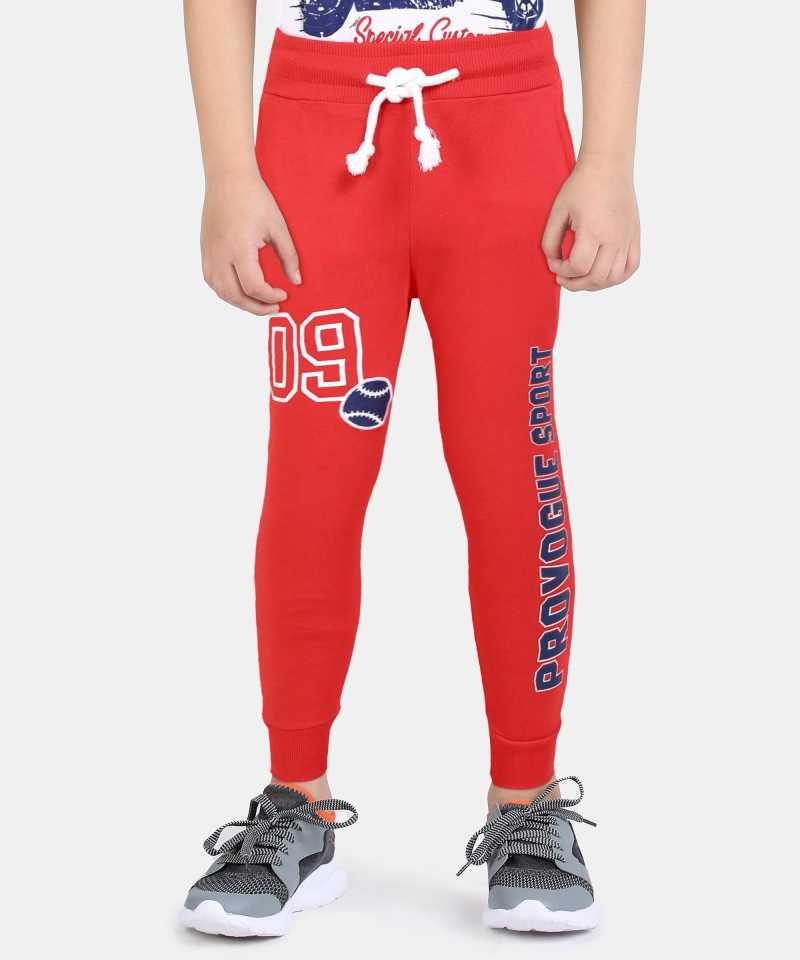 PROVOGUETrack Pant For Boys(Red, Pack of 1)