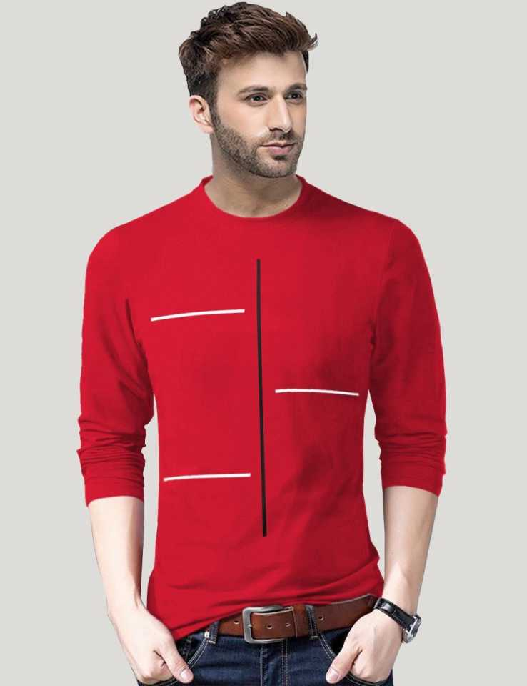 80% Off on TRIPRPrinted Men Round Neck Red T-Shirt Starts from Rs. 129