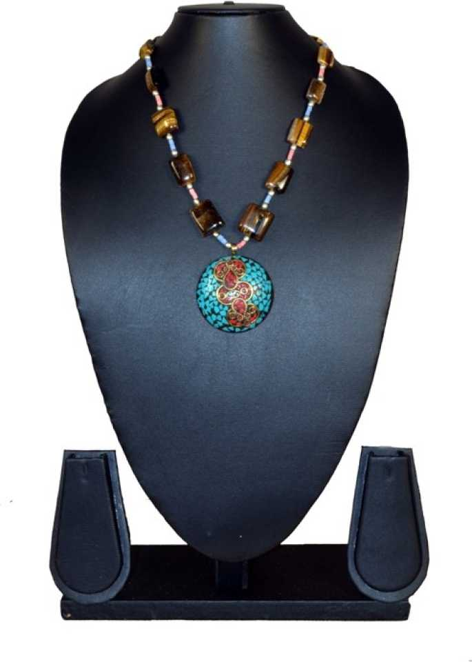 Needle Kraft Cat S Eye Stone Necklace Price In India Buy Needle Kraft Cat S Eye Stone Necklace Online At Best Prices In India Flipkart Com
