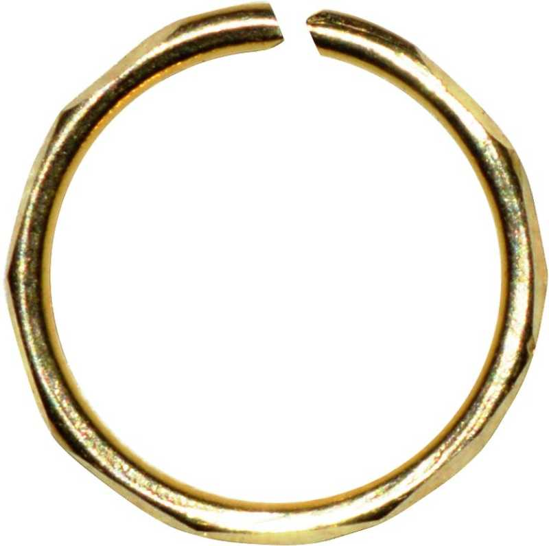 Kataria Jewellers 14kt Gold Designer 14kt Yellow Gold Nose Wire
