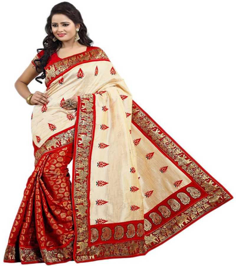 fceb88851f2 Buy Krishna Fab Embroidered Fashion Raw Silk